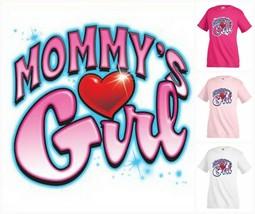 MOMMY`S GIRL Heart crystal T-shirt Children Kids Unisex Girl Funny KP170 - $12.99