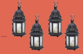 Four Winter Ice Clear Moroccan Wedding Candle Lanterns Event Supplies 14118 - $39.00