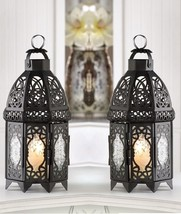 "Black Wedding Lattice Candle Lantern 12"" tall (Set of Two) Event Supplie... - $34.00"
