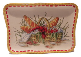 Fitz & Floyd Small Tray Plate Clam Bake Lobster French Bread in Basket - $14.00