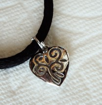 Sterling Silver Filigree design Heart Necklace - $20.00