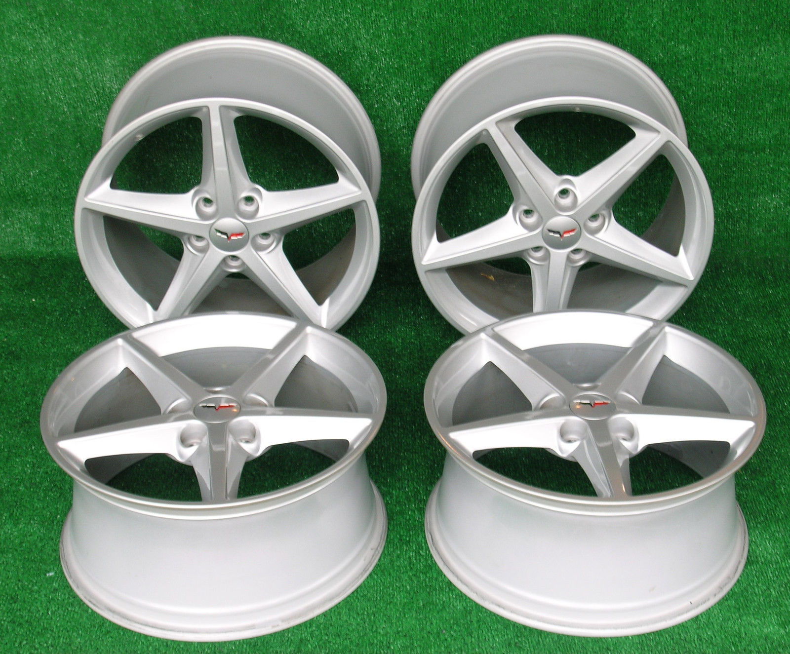Primary image for 2013 Corvette Wheels 60th Anniversary Set of Four 2 Front and 2 Rear Great Shape