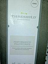 Threshold Performance King Pillowcases 400 TC Brown / River  sealed  STORE image 3