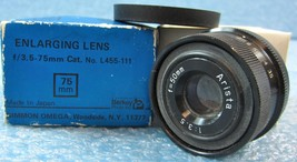 ARISTA ENLARGING LENS, f=1:3.5 APERTURE, 50mm F... - $35.28