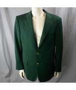House of Costas Custom Tailored Sports Coat Sz 42 Made w/ Italian Gabard... - $27.69