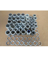 """(53) Assortment of Conduit Fittings, Couplings, and Locknuts (1"""" and 3/4"""") - $59.40"""
