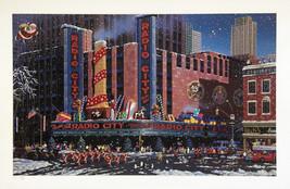 "Alexander Chen ""Santa Comes to Radio City"" - Signed Serigraph - COA - Ga... - $295.00"