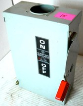 General Electric Ge Thn3361 R Safety Switch, Disconnect Switch, Fusible Hd, 240/ - $47.52