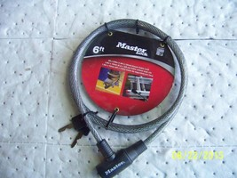 Master Lock 8154DPF 6 Foot Cable/Keyed Lock 071649042713 - $9.45