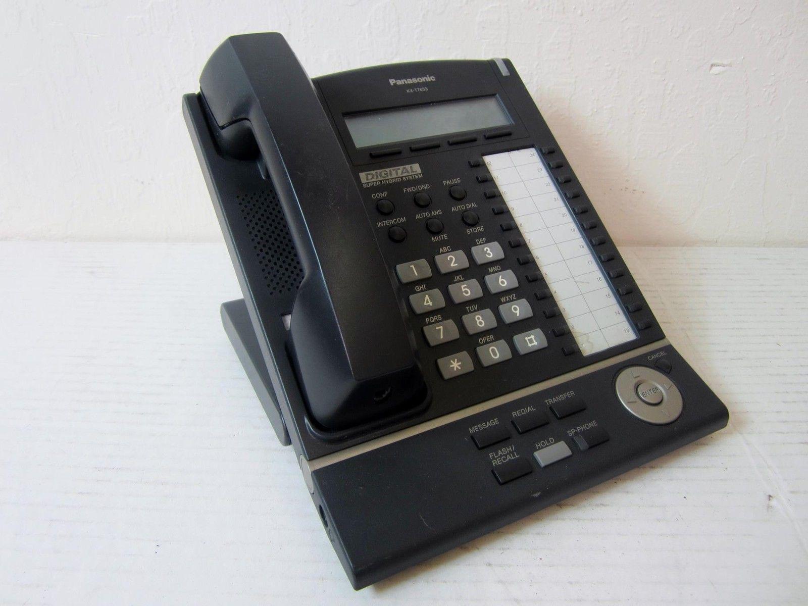 panasonic kx t7633 b digital telephone and 33 similar items rh bonanza com Panasonic Kx T7633 Change Name Panasonic KX-T7633 Hang