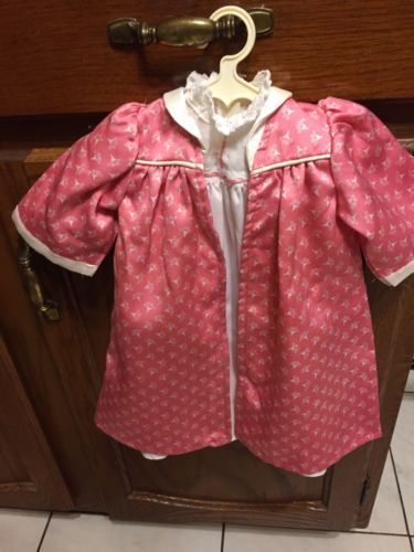 American Girl Doll Pleasant Company Samantha Robe Night Gown Kimono And Slippers
