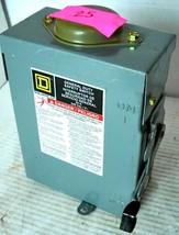 Square D D221 Nrb Safety Disconnect Switch, Type 3 R Nema Enclosure, Rain Proof, - $50.99