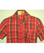 Sweet Men's 60's 70's Vintage Plaid Shirt Rocka... - $30.00