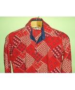 Unique 60's Vintage Psychedelic Mod Men's Shirt... - $35.00