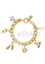 Juicy Couture Charm Bracelet Winter Skate Mitte... - $91.90