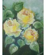 "Original Aceo (2.5x3.5) Reproduction Print ""Yellow Roses"" - $4.99"