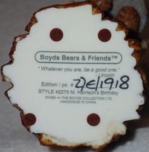 Boyd Bearstone 1996 M. Harrison's Birthday Resin Figurine #2275 27E NEW IN BOX image 4