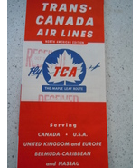 Trans-Canada Air Lines Maple Leaf Route 1956 Travel Brochure - $5.99