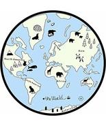 GABWE Kids Round Rug World Map Rug Baby Crawling Mats Child Activity Rou... - $49.62