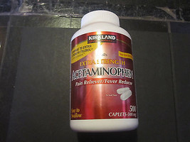 Non Aspirin Extra Strength Acetaminophen 500 Caplets 500mg Kirkland - $7.19