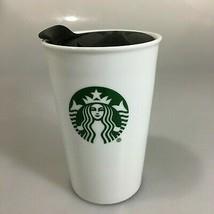 Starbucks Mermaid Split Tail White Ceramic Travel Mug Tumbler 8 oz Doubl... - $32.83