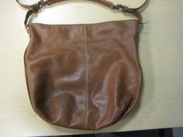 Tignanello Brown Leather Metallic Shimmer Slouchy Hobo Shoulder Handbag Purse - $29.00