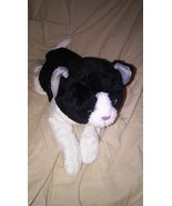 """Applause Plush 13"""" Black White Tabby Bean Laying Kitty Cat Doll Toy #48264 - $18.99"""
