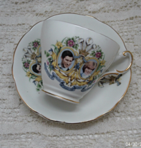 Vintage Regency English Bone China Cup and Saucer - Charles & Diana Wedding - $10.50