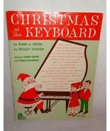 Christmas at the Key Board Piano Organ Chord Organ Piano Sheet Music Sch... - $24.20