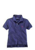 Polo Ralph Lauren Infant Boys Solid Cotton Knit-Mesh Polo Rugby Shirt Si... - $22.99
