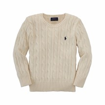 Ralph Lauren Kids Sweater Boys Crew Neck Cable Knit Sweater Sizes 7 - 20 - $44.77 CAD