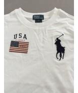 Polo Ralph Lauren Jersey Crew Neck White Size 7 - $18.69