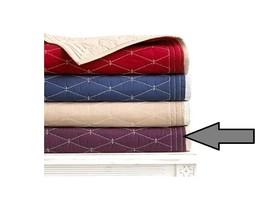 Martha Stewart Collection Solid Diamond Quilted Cotton Plum Standard Sha... - $21.49