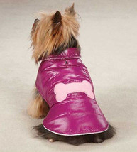 X-Small Dog Coat Jacket Snow Puff Vest Pink Raspberry Casual Canine - $8.99