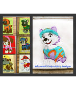 Paw Patrol Set of 7 Dogs Machine Embroidery Applique Design - $22.50