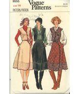 Vogue 9555 Vintage Misses Vest and Asymetrical Skirt - RARE 1970's Size ... - $3.00