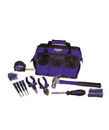 Viper 12in Tool Storage Tote 30 pc Home Mixed Tools Kit for Ladies Purpl... - $75.25