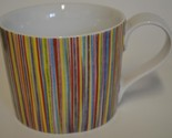 2008 Starbucks ~ Multi Color Striped Red Blue Yellow Green ~ Cup / Mug 13 oz.