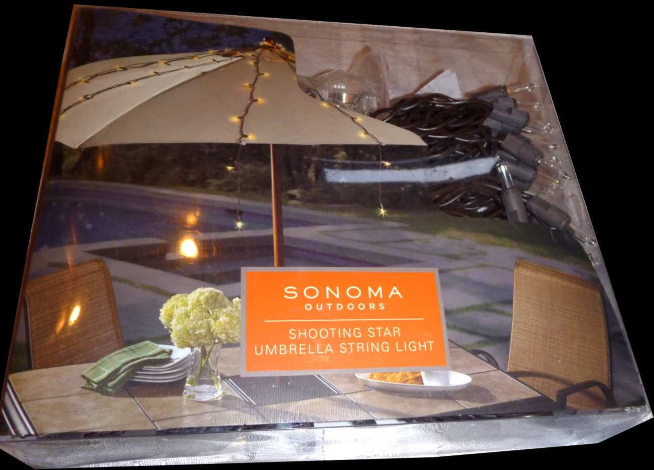 Umbrella String Lights-$60 SONOMA Outdoor Shooting Star Dorm Lighting-Bed Canopy image 7