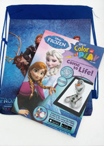 Back Pack Disney Frozen Anna Elsa fun Friends activity books coloring st... - $14.80