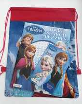 Backpack Disney Frozen Anna Elsa activity books coloring puzzles sticker... - $12.82