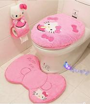 4pcs/set Hello kitty bathroom set toilet set cover bath Delivery 20-25 days - $31.90