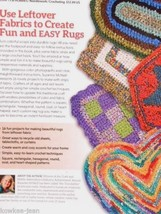 Crochet RAG RUGS Design Originals instruction book by Suzanne McNeill 48pgs - $14.22
