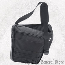 """Black 13"""" Polyester Messenger Bag with Zippered Closure Ripstop Construc... - $18.99"""