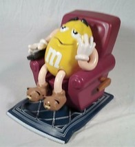 YELLOW PEANUT M&M IN RECLINER WITH REMOTE CANDY DISPENSER - $29.69