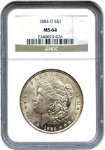 1884-O $1 NGC MS64 - Morgan Silver Dollar - $82.45