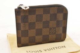 Louis Vuitton Damier Porte Monnaie Moneta Case N63279 IV Auth 4230 - $209.18