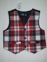 The Children's Place Infant Baby Boys Black/Red Vest  Size 3 6 Christmas  (#B1 ) - $8.91