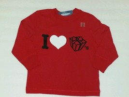"NWT Old Navy GIRLS Size 4T Long Sleeve Red Tee shirt, ""I LOVE PRESENTS  ... - $7.92"