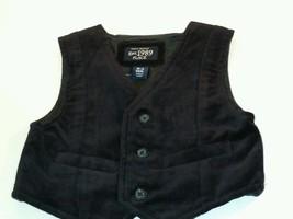 The Children's Place Infant Baby Boys Black Vest  Size 0 3 Christmas  (#B1 ) - $11.88